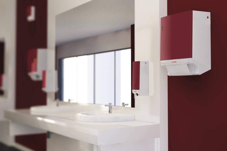 CWS sanitair schilten rood
