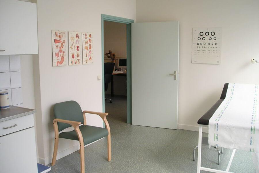 Schoonmaak behandelkamer