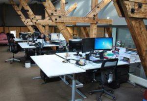 werkplek kantoor klein schoonmaken